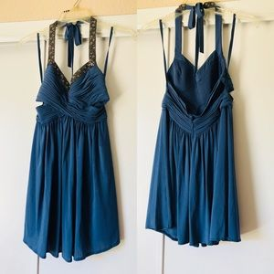 Blue cocktail dress